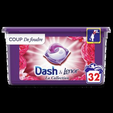 Dash Lessive Pods 2 En 1 Coup De Foudre Dash X32 Doses (803.2g)