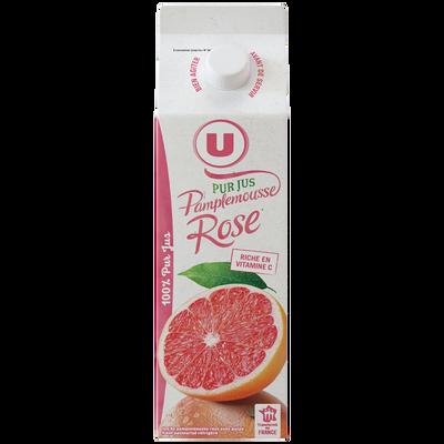 Pur jus réfrigéré pamplemousse rose U, brique de 1l