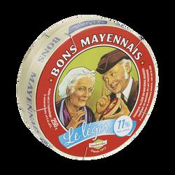 Camembert allégé au lait pasteurisé BON MAYENNAIS, 11%MG, 250g