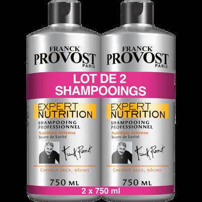 Shampoing expert nutrition FRANCK PROVOST, 2 flacons de 750ml