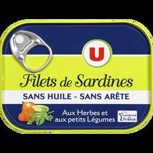 Filets de sardines aux herbes et petits légumes U, 100g