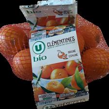 Clementines oronules, U BIO, calibre 3/4, catégorie 2, Espagne, girsac1kg