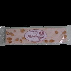 Barre de nougat tendre 15% d'amandes, 100g