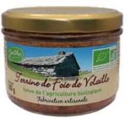 Terrine de foie de volaille Bio, Fabrication artisanale, 180g, Julhes