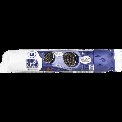 Biscuits fourrés noir et blanc U, rouleau de 154g