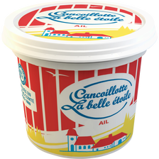 Cancoillotte à l'ail au lait pasteurisé LA BELLE ETOILE, 8%MG, 250g