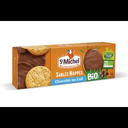 Sablés nappés chocolat au lait bio ST MICHEL, 140g