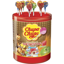 Sucettes goût assortis the best of CHUPA CHUPS, tubo x50, 600g