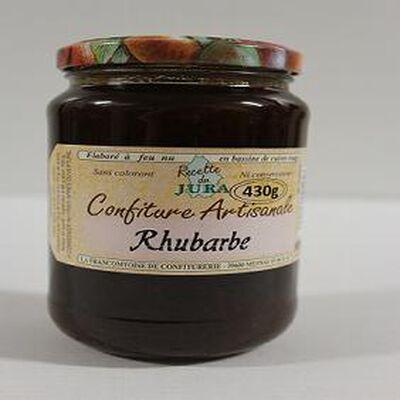 Confiture de rhubarbe rouge, Recette du Jura, 430g