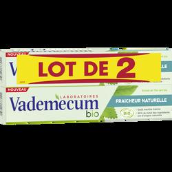 Dentifrice bio fraîcheur naturelle VADEMECUM, 2x75ml
