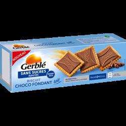 Biscuits choco fondant lait sans sucres ajoutés GERBLE, 126g