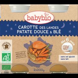 Pot Carotte des Landes Patate douce Blé BABYBIO, dès 6 mois 2x200g