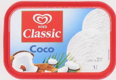 Crème glacée MIKO 1L, parfum noix de coco