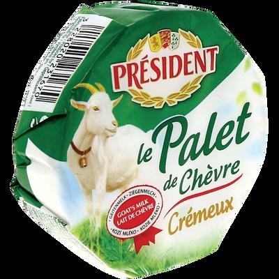 Fromage de Chèvre pasteurisé, Palet de Chèvre PRESIDENT, 24%MG, 120g