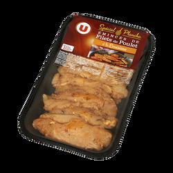 Emincé de filet de poulet à la Louisiane, U, France, Barquette, 250g