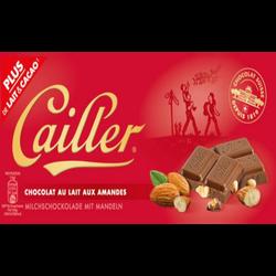 Tablette de chocolat au lait et amandes CAILLER, 100g