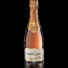 Vin rosé effervescent désalcoolisé FESTILLANT à base de vin, 75cl