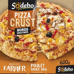 Pizza crust farmer poulet rôti sauce barbecue et poivrons grillés SODEBO, 400g