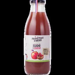 Pur jus de pomme et de cerises Les Producteurs d'Abord 1litre