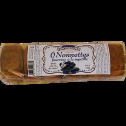 Nonnettes au miel fourrées myrtilles FORTWENGER, 150g
