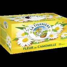Infusions Fleurs de Camomille LA TISANIERE, 25 sachets, 37g