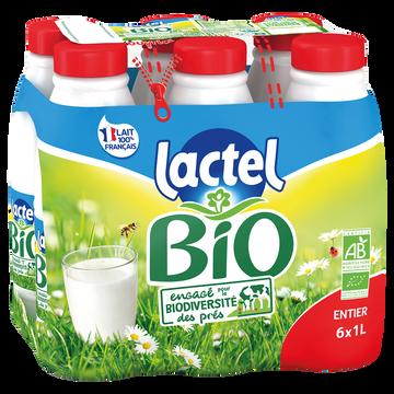 Lactel Lait Bio Entier Uht - Lactel - Bouteille 6x1l