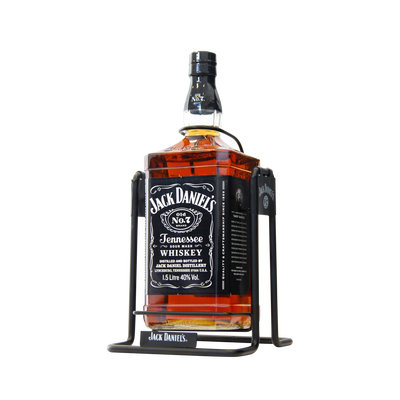 Tennessee whiskey JACK DANIEL'S OLD N°7, 40°, 1,5 litre + balancelle