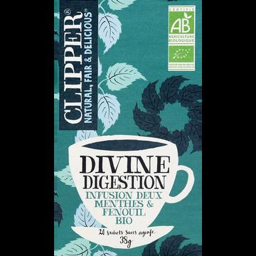 Clipper Infusion Divine Digestion Bio Clipper, Boîte De 38g