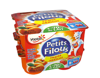 Filous Fraise/Abricot 60g x 8