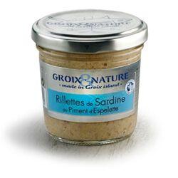 Rillettes de ardine au piment d'espeltte 100g, produit en BRETAGNE, GROIX ET NATURE