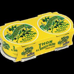 Thon à l'huile d'olive vierge extra LE SAVOUREUX, boîte 2x1/5