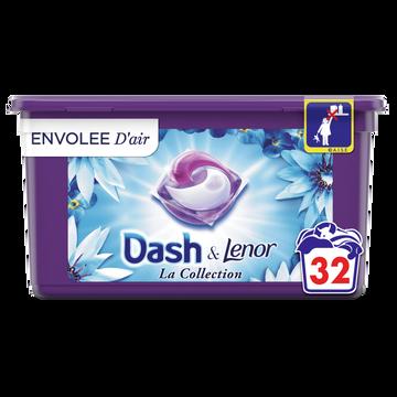 Dash Lessive Pods 2 En 1 Envolée D'air Dash X32 Doses (803.2g)