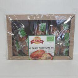Cake bio aux fruits LA BOITE A CAKE paquet x16