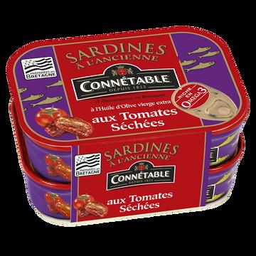 Connetable Sardines À L'huile D'olive Et Aux Tomates Séchées Connétable, 2 Boîtesde 115g
