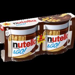 Bâtonnets aux céréales et pâte à tartiner NUTELLA & Go, 2x52g
