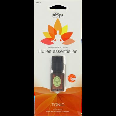 Diffuseur de parfum tonic, AIR SPA, pour aérateur, à base d'huilesessentielles de citron vert, eucalyptus et citronnelle