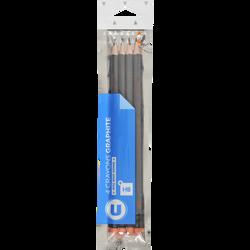 Crayon de papier HB U avec bout gomme, pack de 4