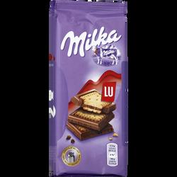 Chocolat au lait et biscuits Petit Lu MILKA, 2x87g