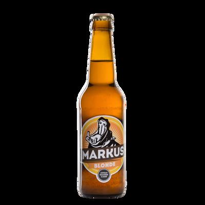Bière blonde MARKUS 5°, bouteille de 33cl