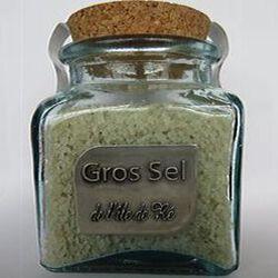 Gros sel de l'Île de Ré, 400g, bocal en verre, Les sauniers de l'Île de Ré