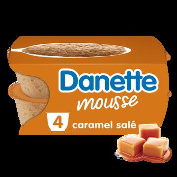 Danone Danette Mousse Caramel Salé, 4x60g