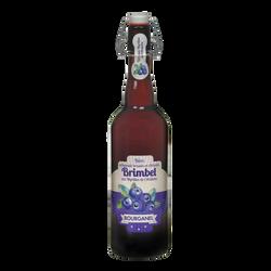 Bière Brimbel aux myrtilles d'Ardèche BOURGANEL 5°, bouteille de 75cl