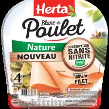 Herta Blanc De Poulet Nature , 4 Tranches Soit 120g
