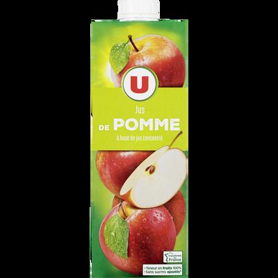 Jus à base de concentré de pomme U, brique de 1l
