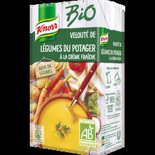 Velouté de légumes du potager à la crème fraîche bio KNORR, brique de1 litre