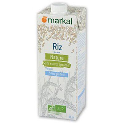 Boisson végétale BIO riz nature, MARKAL, brique de 1l