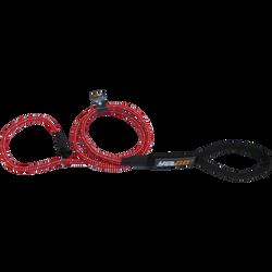 Laisse corde courte 2en1 éducation rouge yago, AIME