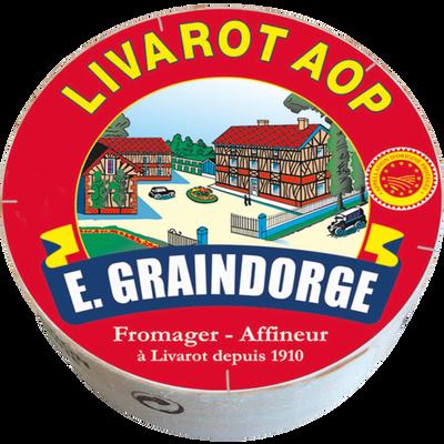 Livarot AOP au lait pasteurisé GRAINDORGE ET FILS, 22% de MG, 330g