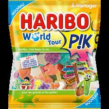Confiserie gélifiée acidifiée world tour pik HARIBO, 200g