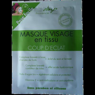 Masque visage en tissu coup d'éclat DMP, 1 unité